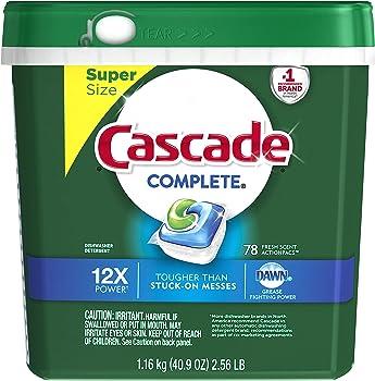 Cascade Complete ActionPacs Dishwasher Detergent 78 Count