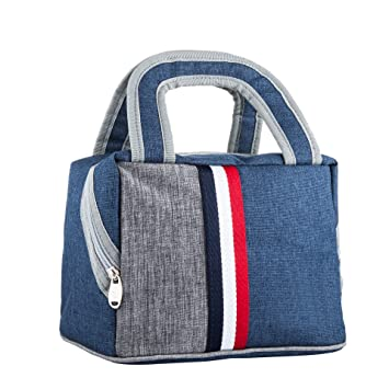 80bc097d009 Lunch Bag Insulated Lunch Box Tote Bag Reusable Zip Closure Handbag Lunch  Tote Cooler Bag for Women,Men