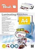 Peach PP525-02 A4 100pièce(s) film issu d'un procédé de lamination - films issus d'un procédé de lamination (A4, Transparent, 100 pièce(s))