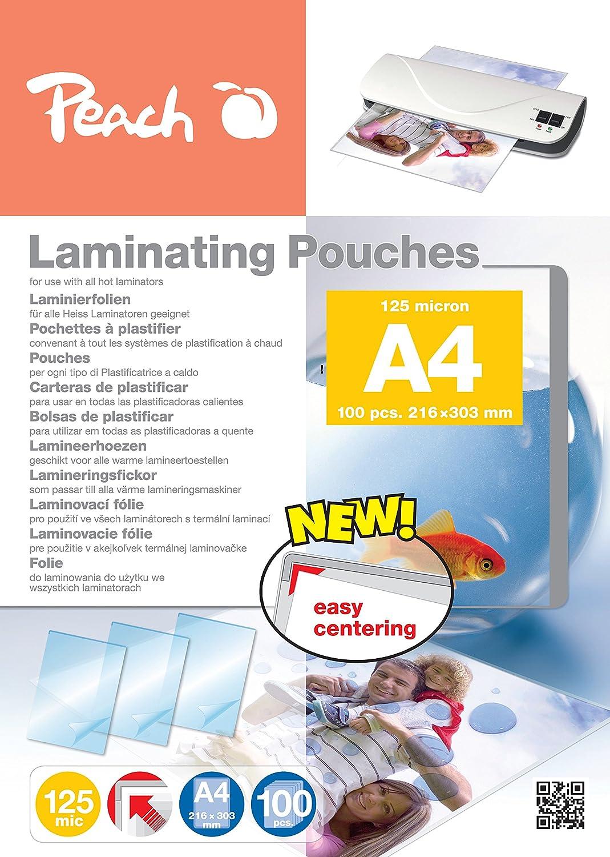 Peach PP525-02 A4 100pezzo(i) pellicola per plastificatrice B000XJV45S