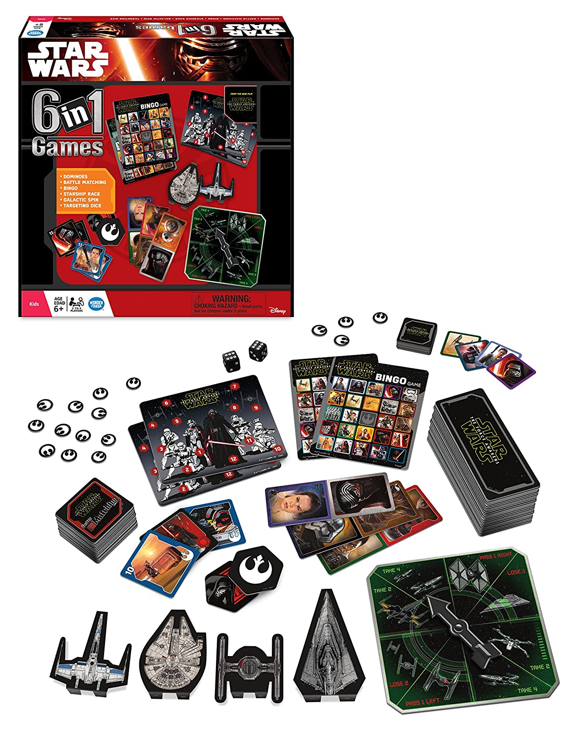 Uncategorized Star Wars Matching Game amazon com star wars the force awakens 6 in 1 game collection toys games