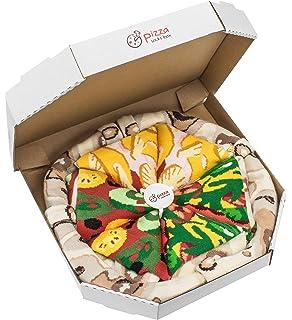 PIZZA SOCKS BOX 4 pairs MIX Hawaii Italian Vege Cotton Socks Made In EU
