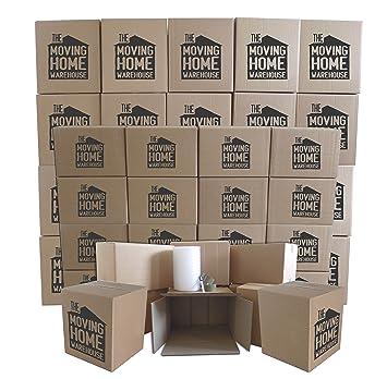 Casa cajas de cartón – 2 – 3 Kit para mover dormitorio Deluxe (45 cajas