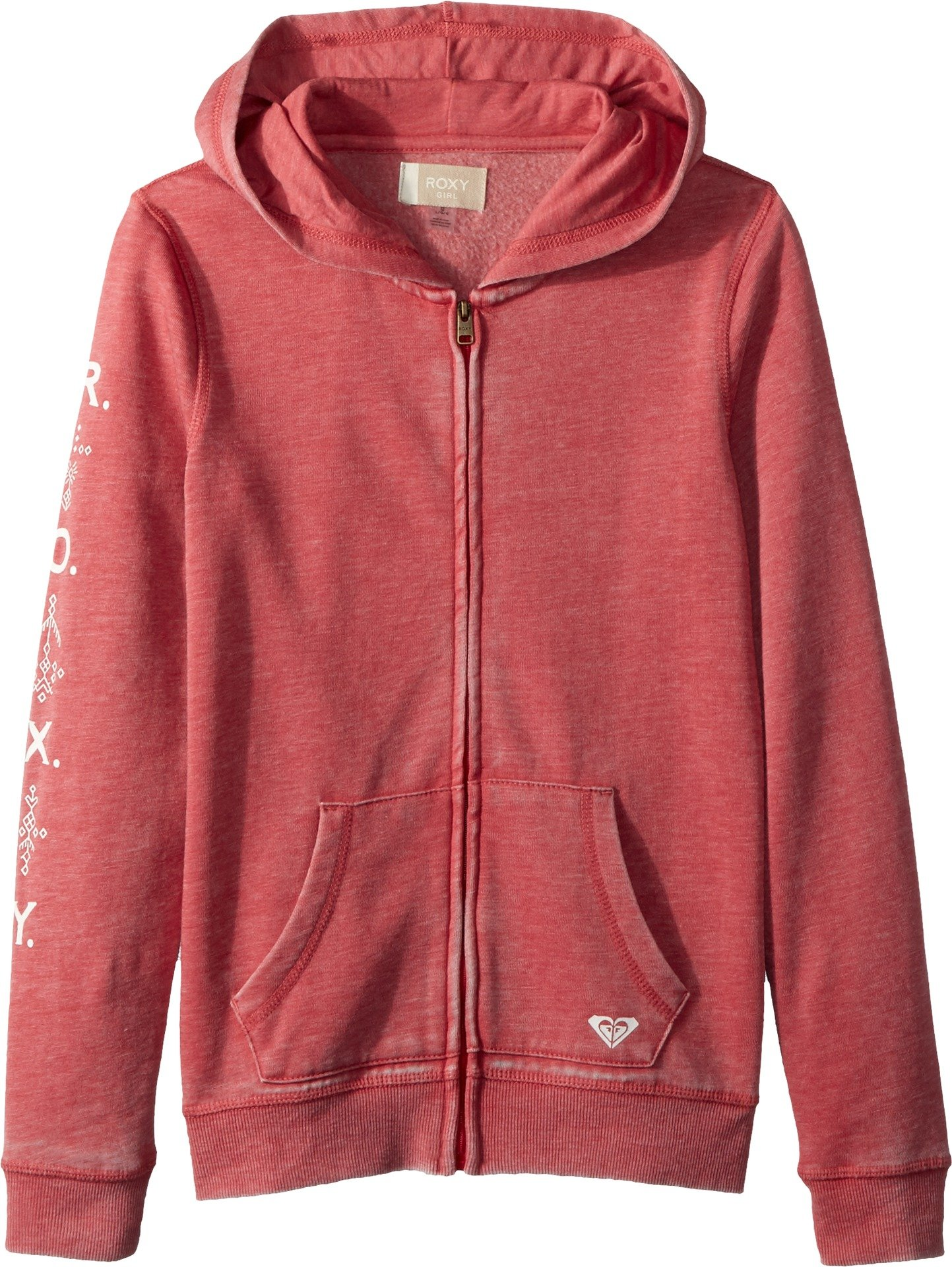 Roxy Big Girls' Dance Forever Zip-up Hooded Sweatshirt, Holly Berry, 10/M