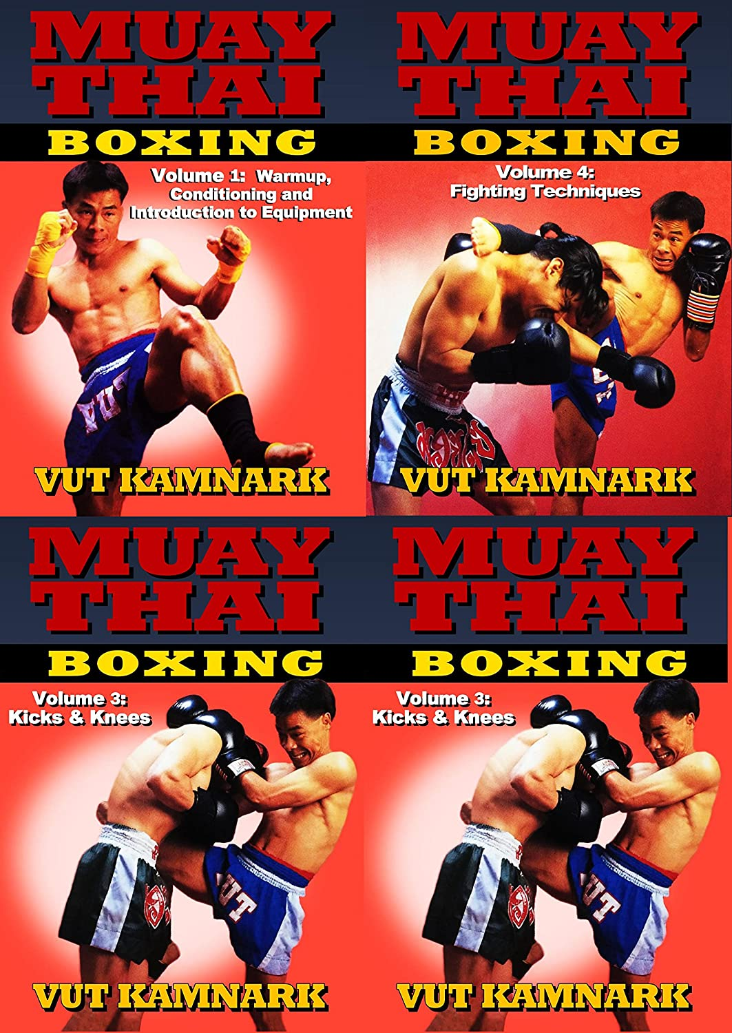 Amazon com: 4 DVD Set Muay Thai Boxing Fighting Techniques