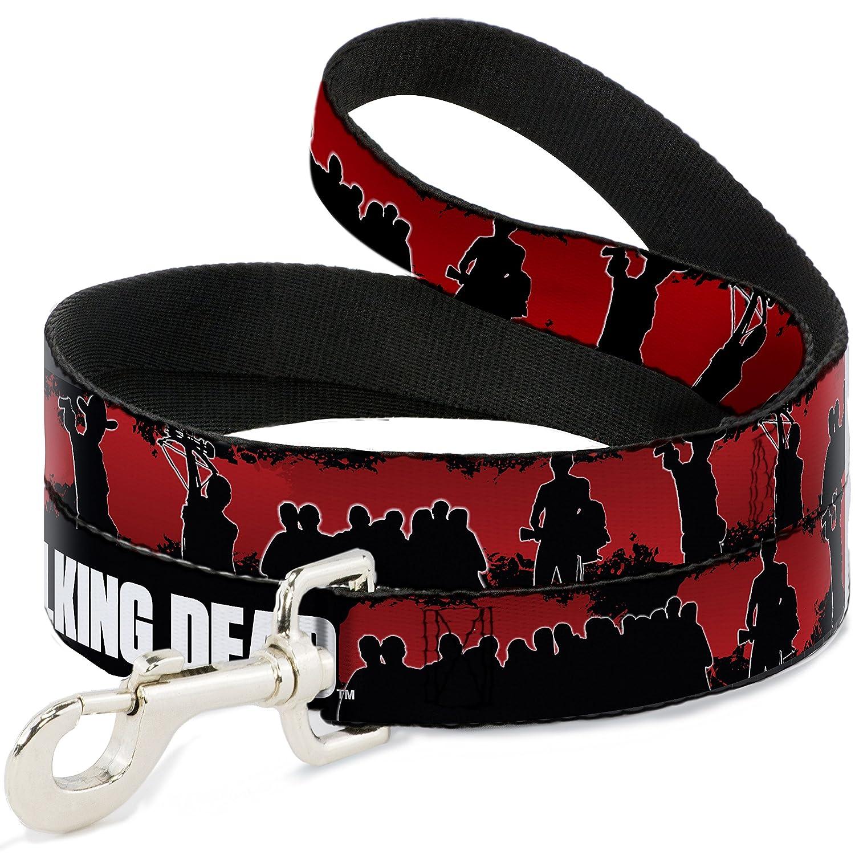 Buckle-Down AMC The Walking Dead Scene Silhouettes Black Red White  Dog Leash, 6'