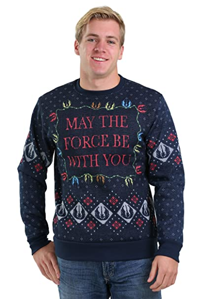 Mens Ugly Christmas Sweater.Mad Engine Star Wars Xmas Force Men S Ugly Christmas Sweater