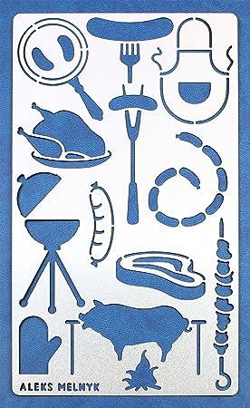 Aleks Melnyk 26 Diario planificador Stencil, Dibujo plantillas Bullet, DIY Craft Scrapbook, bricolaje