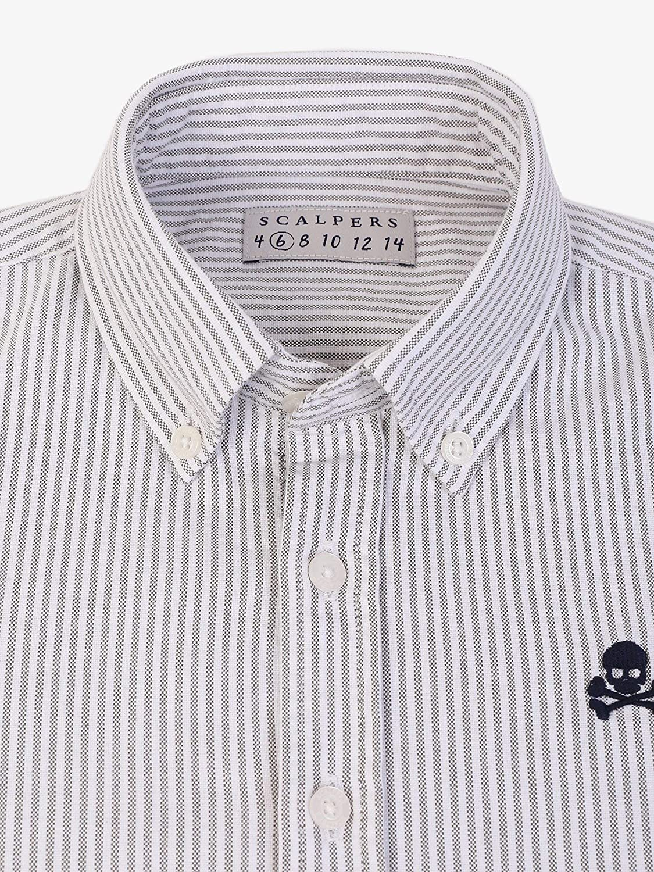 Scalpers Camisa Rayas Oxford - Khaki / 10: Amazon.es: Ropa y ...