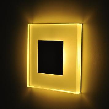 SUN-LED apliques focos LED para escaleras, escalera, corridor, luz blanca cálida marco en Negro con