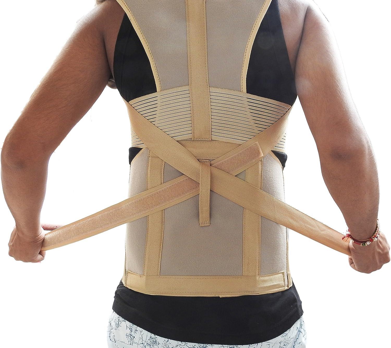 Wonder ideal cuidado con dorsolumbar la postura corporal corrector Taylor 5 placa de bloqueo de acero bares