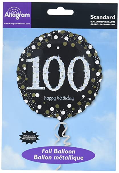 Image Unavailable Not Available For Color Amscan 3374401 100th Birthday Foil Balloons