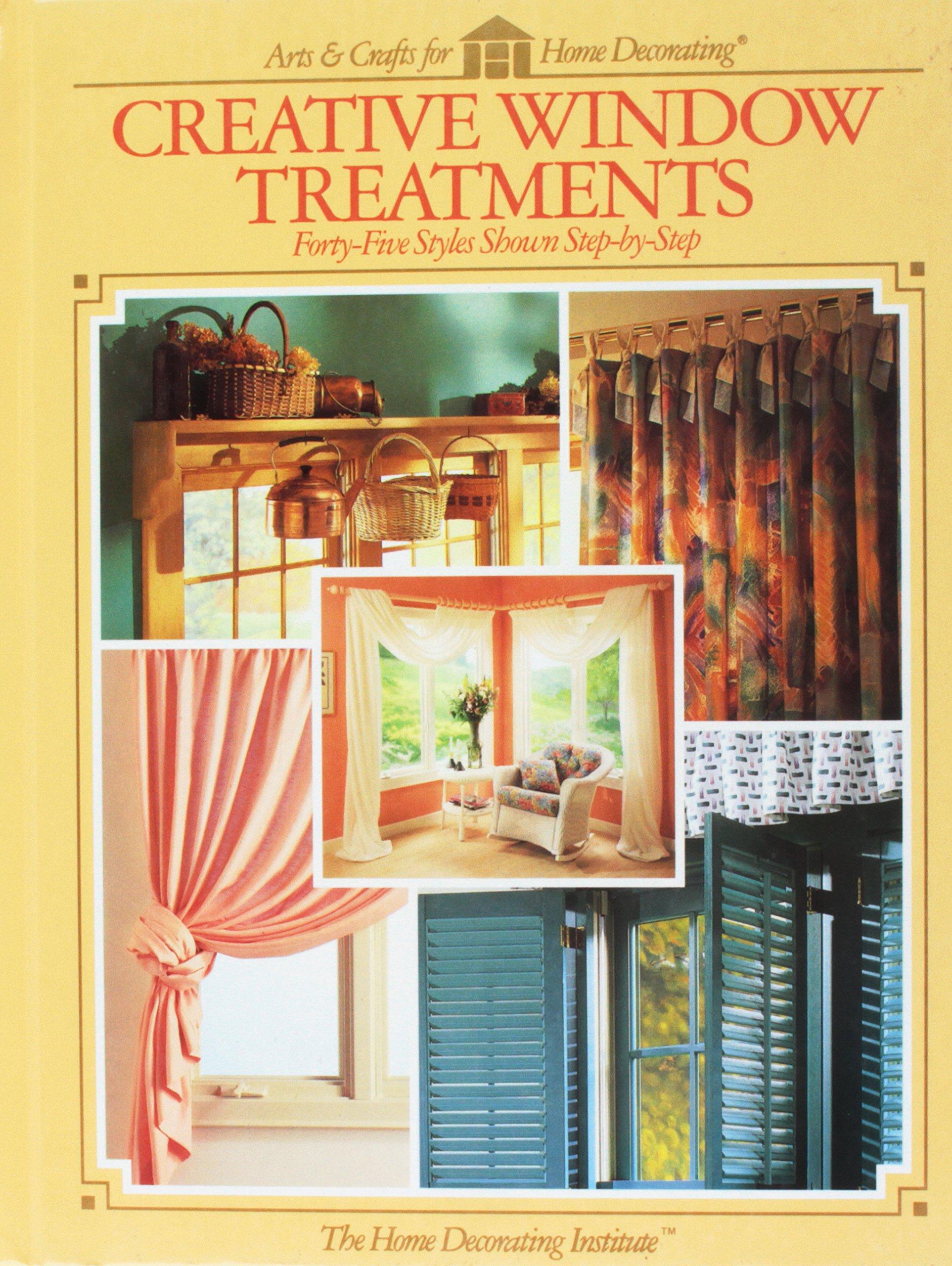 creative window treatments paper creative window treatments fortyfive styles shown stepbystep 9780865733527 amazoncom books stepbystep