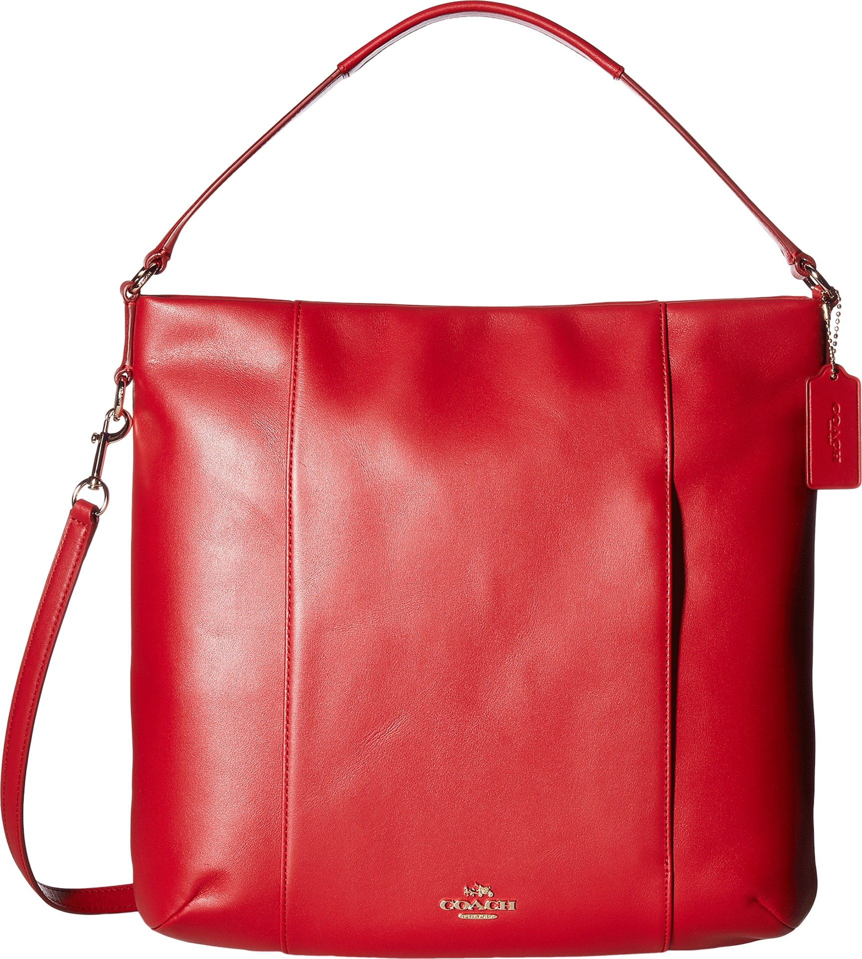 COACH Women's Leather Isabelle Shoulder Bag Classic Red One Size