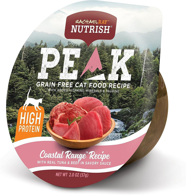Rachael Ray Nutrish PEAK Wet Cat Food, 2 Ounce Cups (Pack of 24), Grain Free