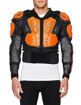 Fox Chaqueta Titan deportiva, color negro/naranja, talla L: Amazon.es: Coche y moto