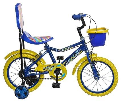 Buy Loop Cycles Steelomax Series Kids Bicycle Blue Yellow (Semi ...