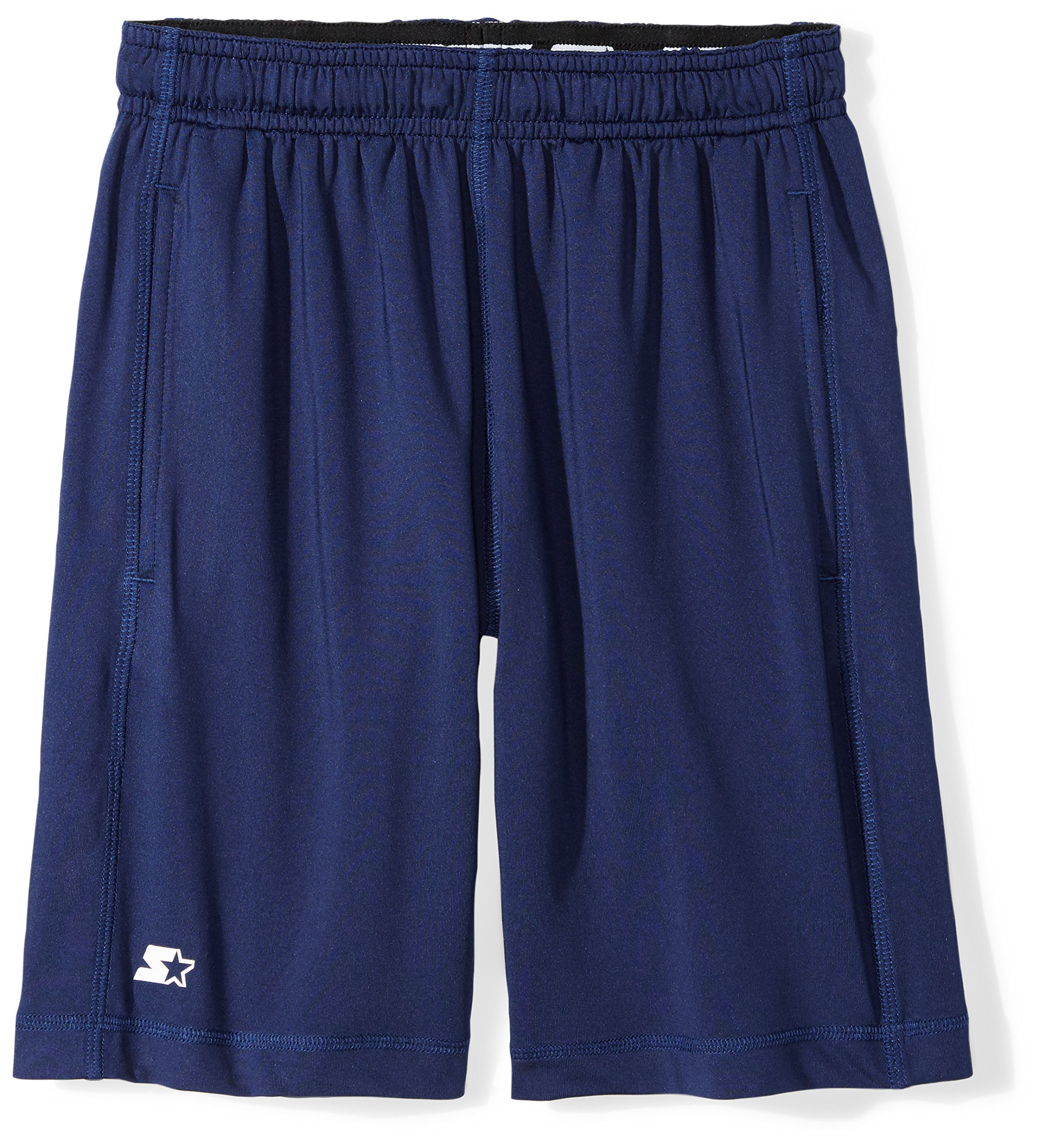 Starter Boys' 8'' Stretch Training Short Pockets, Prime Exclusive, Team Navy, XL (16/18)