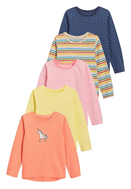 next Niñas Pack De Cinco Camisetas (3 Meses - 6 Años)