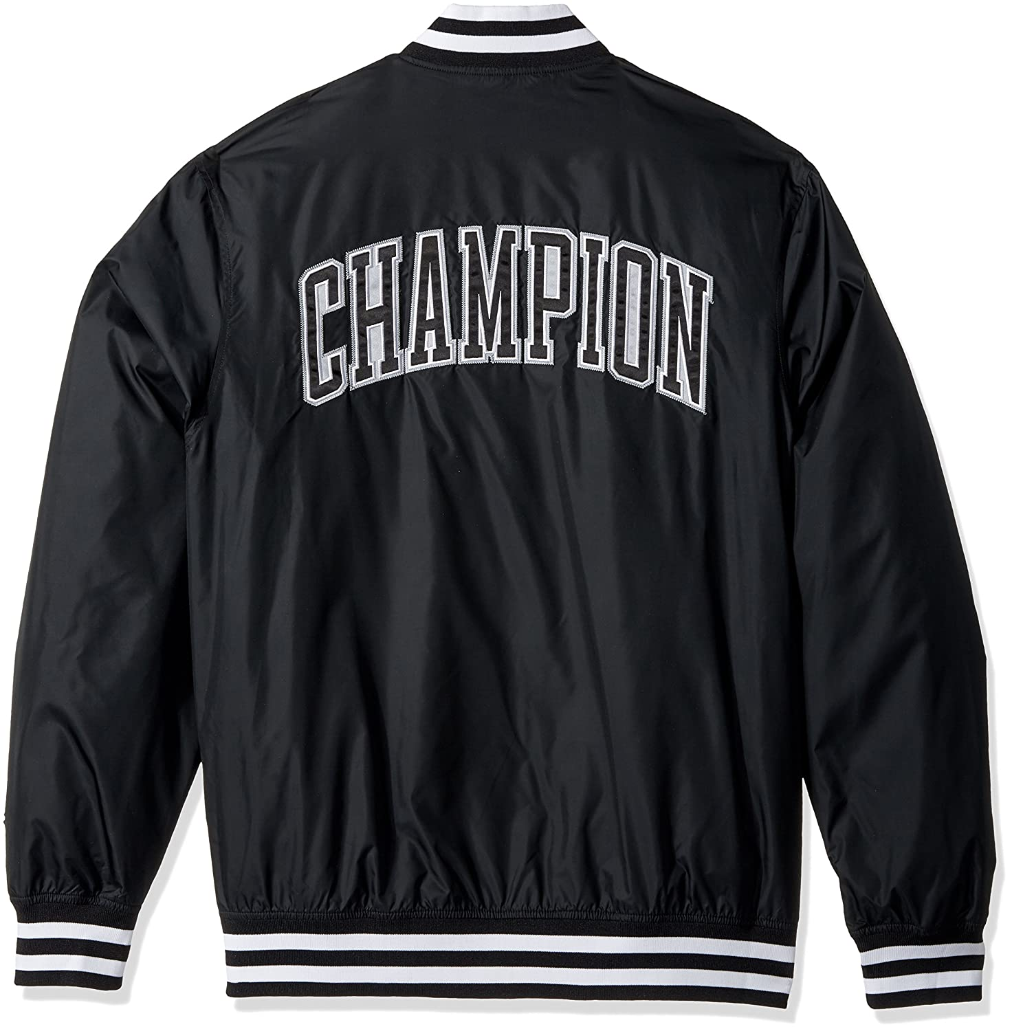 62d50b14ba7 Amazon.com  Champion LIFE Men s Satin Baseball Jacket