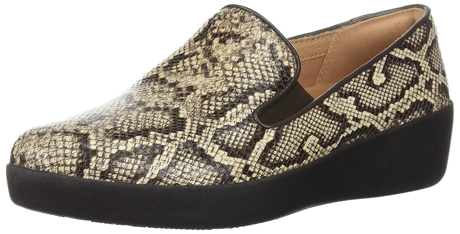 FitFlop Women's Superskate Sneaker B0782193H9 8 B(M) US|Taupe Snake
