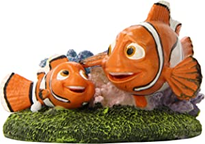 Penn Plax Finding Nemo Resin Ornament for Aquariums, Nemo and Marlin, 4-Inch