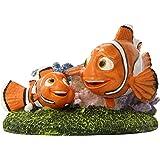 Penn Plax Finding Nemo and Marlin 4 in. Aquarium Ornament