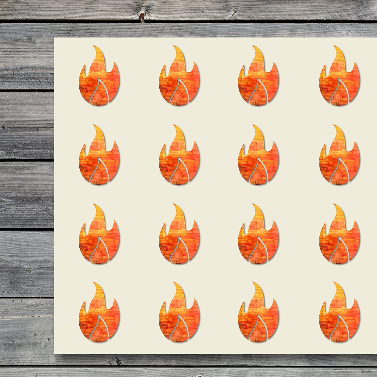 winkel officieel nieuw kopen Fire Blaze Flame Firing Burn Craft Stickers, 44 Stickers at 1.5 Inches,  Great Shapes for Scrapbook, Party, Seals, DIY Projects, Item 46230