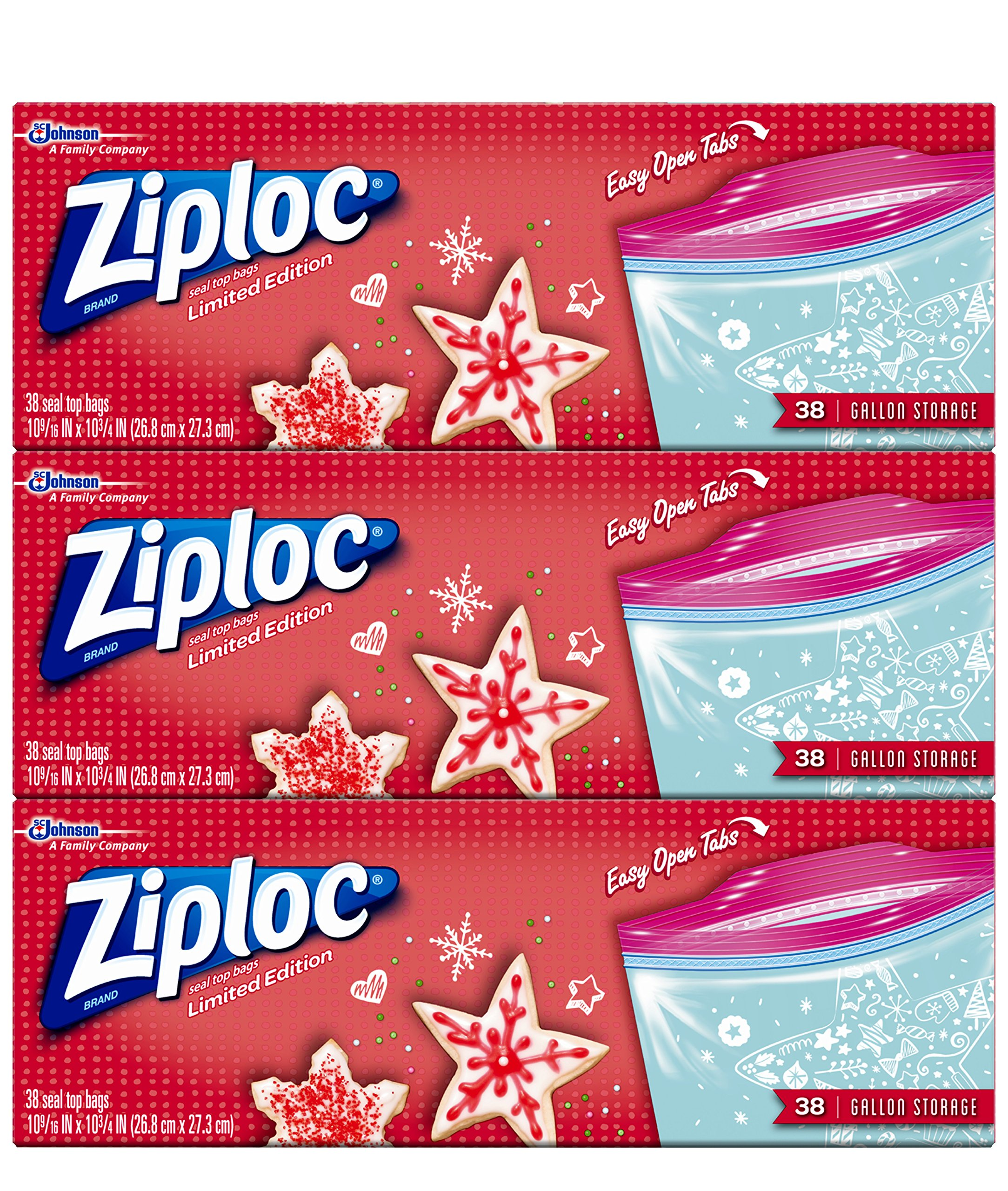Amazon Com Ziploc Limited Edition Holiday Freezer Bags