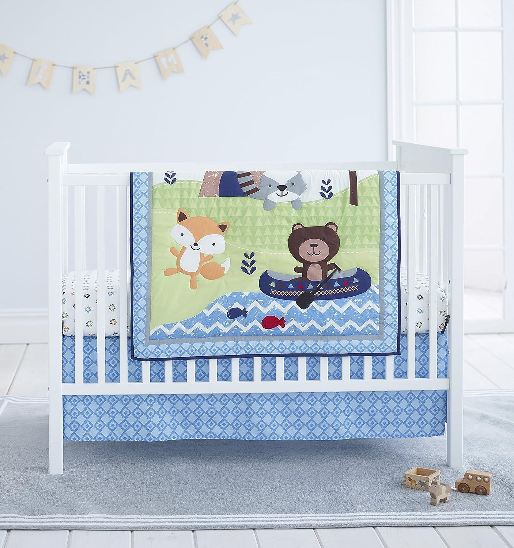 Cuddle Time 3 Piece Crib Bedding Set, Adventure Land