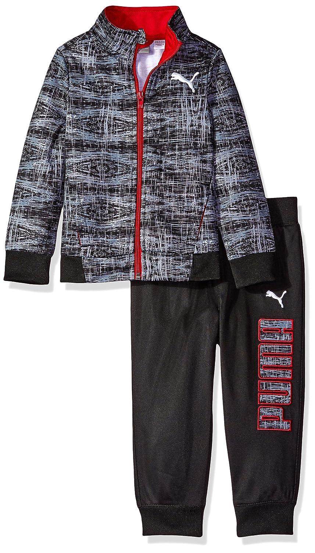 8e489f0734e7 Amazon.com  PUMA Boys  2-Piece Zip up Track Jacket and Jogger Pant Set   Clothing