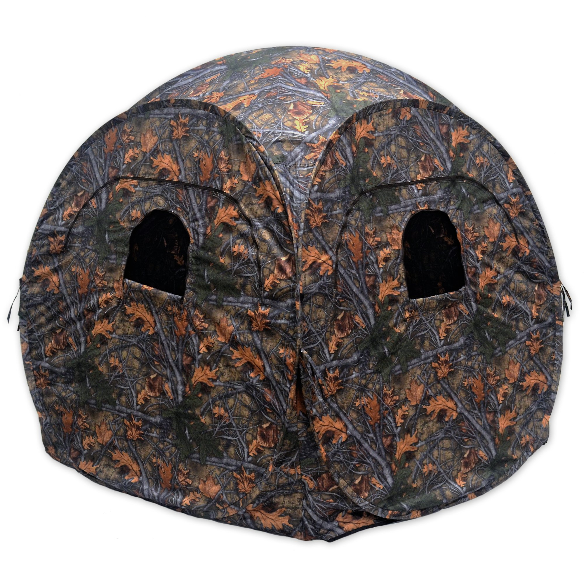 "Copper Ridge Outdoors Ground Blind - Spring Steel Pop Up Hunting Ground Blinds - Pop Up Blinds for Deer Hunting, 58"" x 58"" x 65""H, Shoot Through Mesh Windows, Portable Blind"