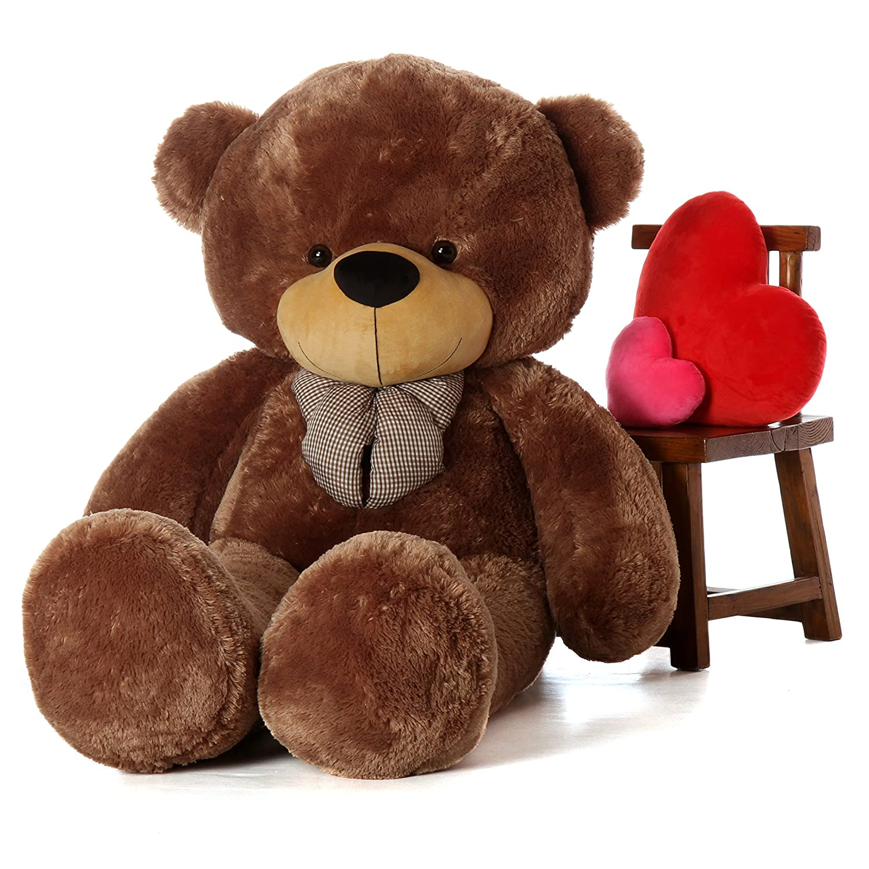 f5509fb8731 Amazon.com  Giant Teddy Brand 6 Foot Life Size Mocha Brown Color Big Plush  Teddy Bear Sunny Cuddles (Original)  Toys   Games