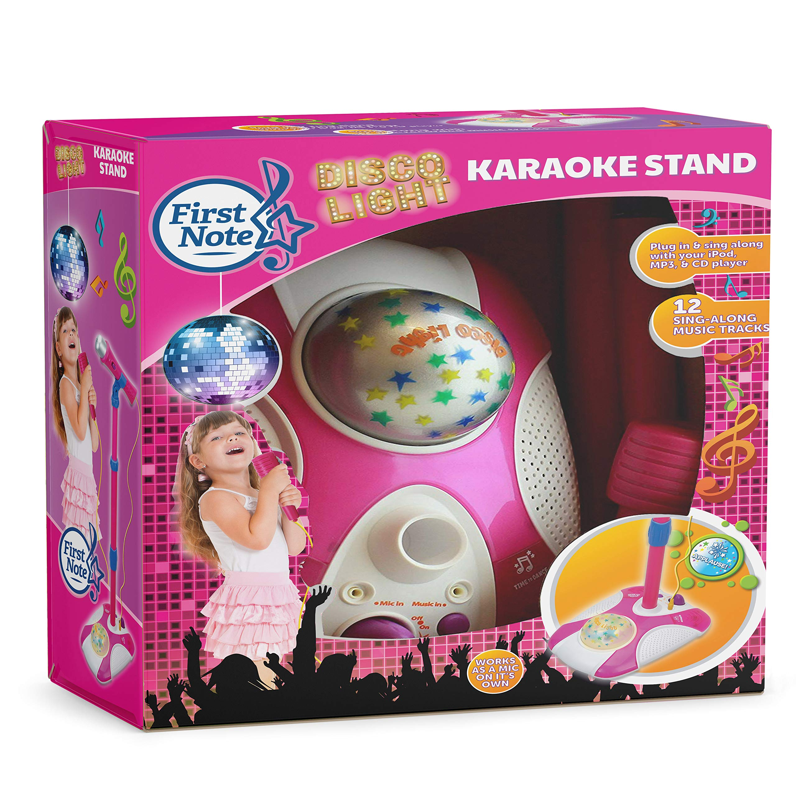 Karaoke Disco Light Adjustable Mic & Speaker Stand! Connects to iPods, Smartphones & MP3 Players and Includes 12 pre-Loaded Popular Songs(Blue) by IQ Toys (Image #7)