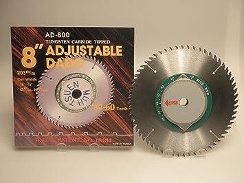Dado 8 adjustable 60 tooth 58 arbor circular saw blades dado 8quot adjustable 60 tooth greentooth Gallery