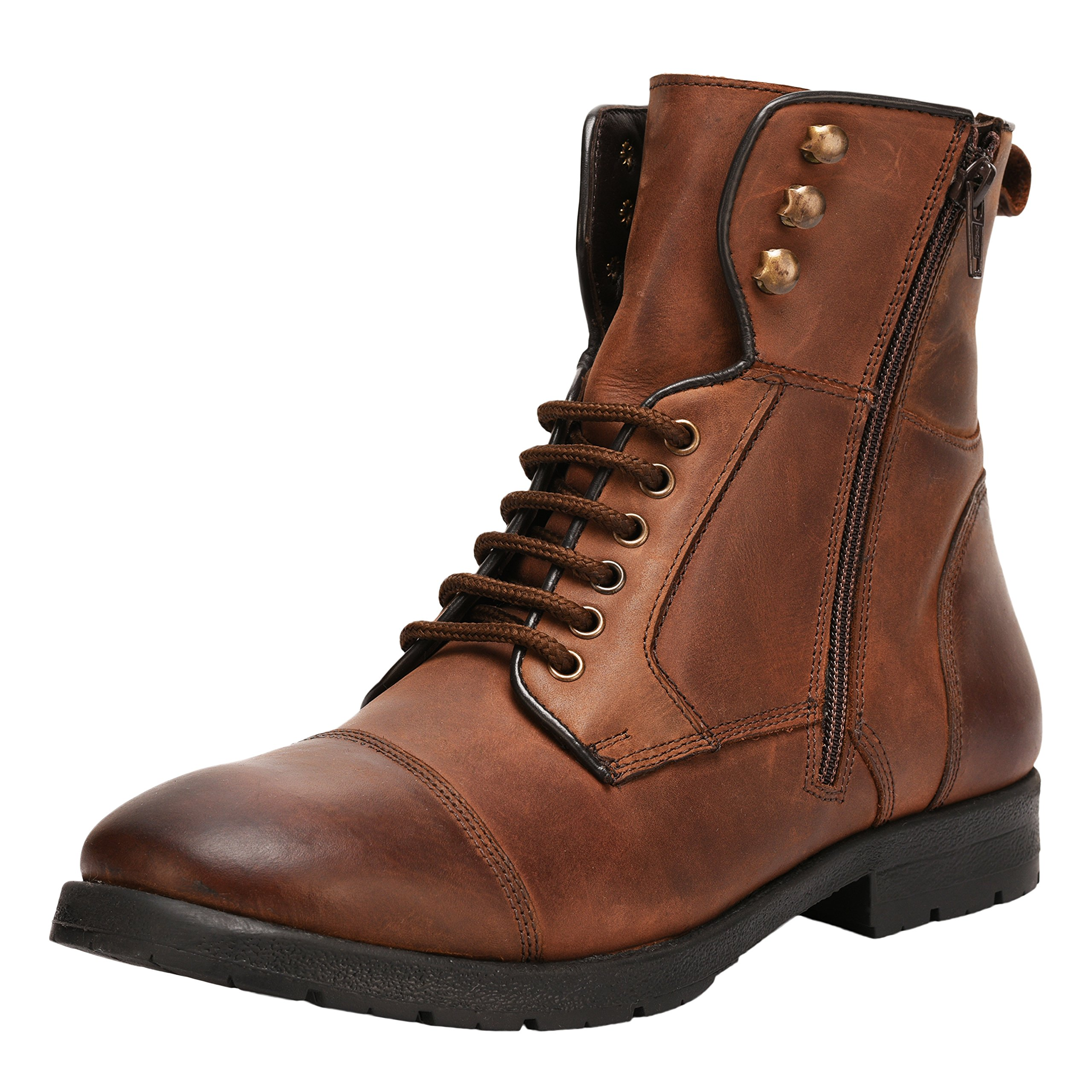 Liberty Men's Genuine Leather Lace up Closure Fashion Ankle Boots 1.5 inch Heels
