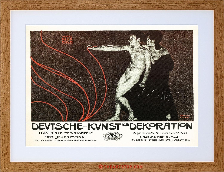 Amazon.com: VINTAGE AD DECORATION BOOK LEIPZIG GERMANY FRAMED PRINT ...