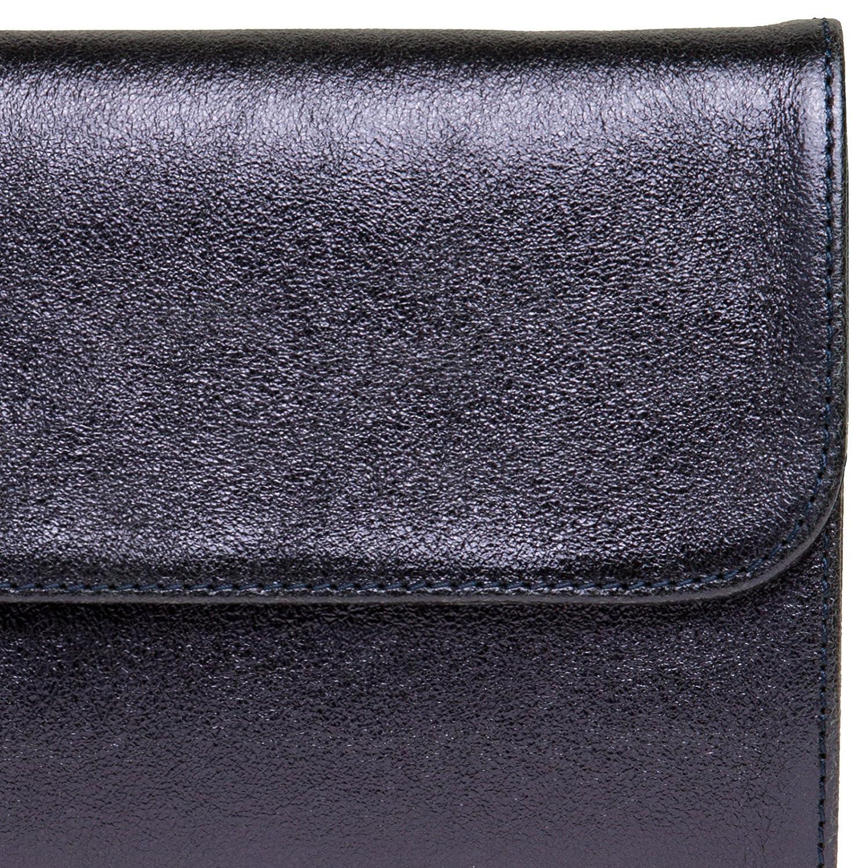CASPAR TL779 Sac de soir/ée en cuir m/étallique v/éritable pour femme//sac enveloppe//clutch