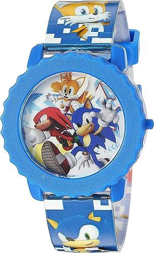 Amazon Com Sonic The Hedgehog Kids Snc4028 Digital Display Quartz Blue Watch Watches