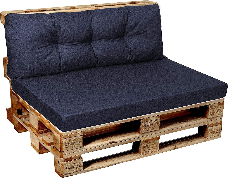 Cuscino per bancale Garden Factory Schienale Cuscino Laterale 60x40 Lime Seduta Set Cuscini per Pallet