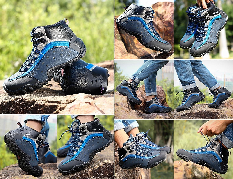 GNEDIAE Homme Chaussures Sports de Plein Air Randonn/ée et Escalade Chaussures Talon Plat Longueur Cheville Respirant et Imperm/éable Adapt/é Printemps-et/é Automne-Hiver 39-46