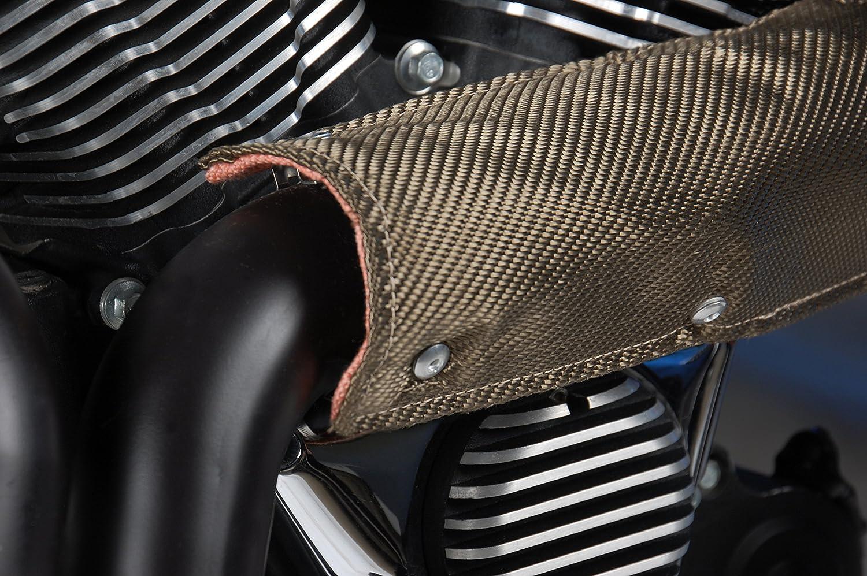 Design Engineering 010454 Titanium Pipe Shield 4 x 1 Exhaust Heat Shield