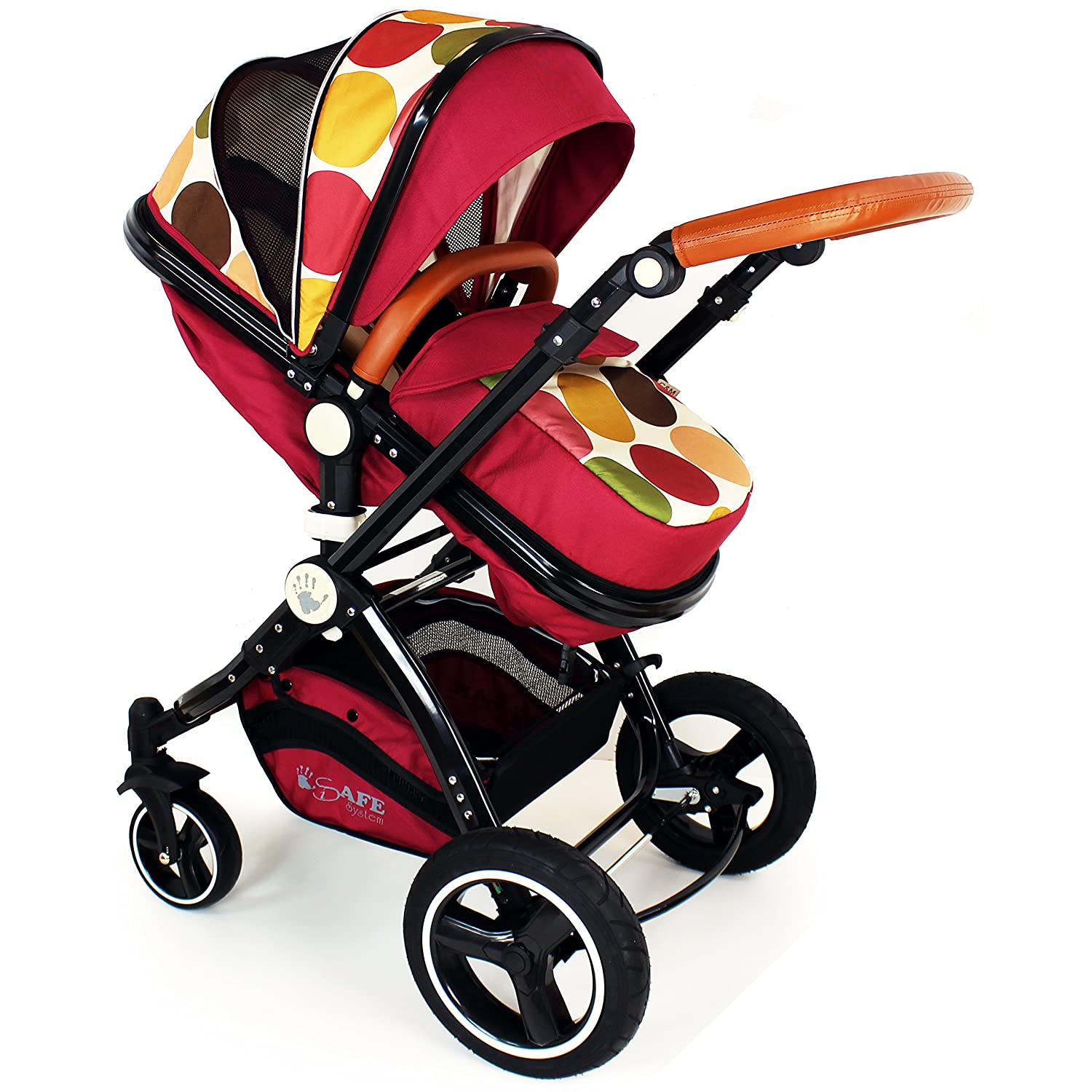 i-Safe System - C&M Trio Travel System Pram & Luxury Stroller 3 in