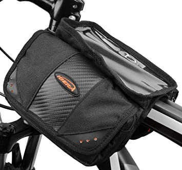 Ibera Top Tubo en ángulo mini - Alforjas para bicicleta con protector de bolsillo en la parte superior para teléfono/cámara pequeña: Amazon.es: Deportes y ...