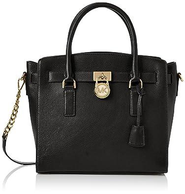 e804f2082a10 Amazon.com  Michael Kors Womens Hamilton Tote Black (Black)  Shoes