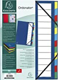 Exacompta 55342E Ordonator Trieur de Bureau Rigide 12 Compartiments Bleu