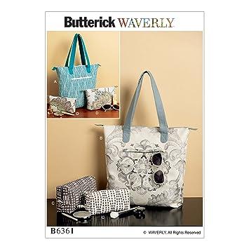 Butterick Patterns 6361 OS Tote Taschen und Beutel: Amazon.de: Küche ...
