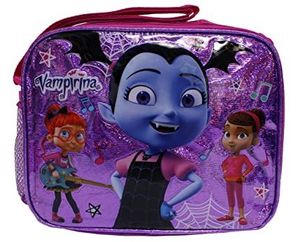 93861ca2054 Image Unavailable. Image not available for. Color  Disney Junior Vampirina  New Cute Purple Shiny Insulated Girls  School Lunch Bag