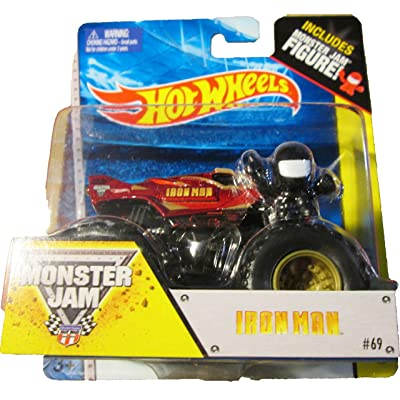 Hot wheels Monster Jam IRON MAN includes monster jam figure #69 off- road: Toys & Games