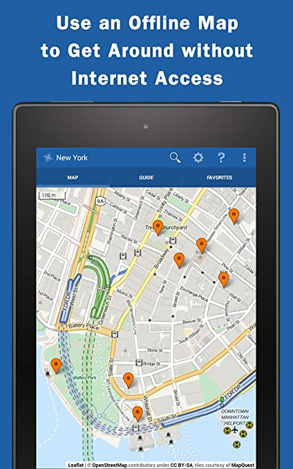 Map New York Offline.New York City Travel Guide Offline Map